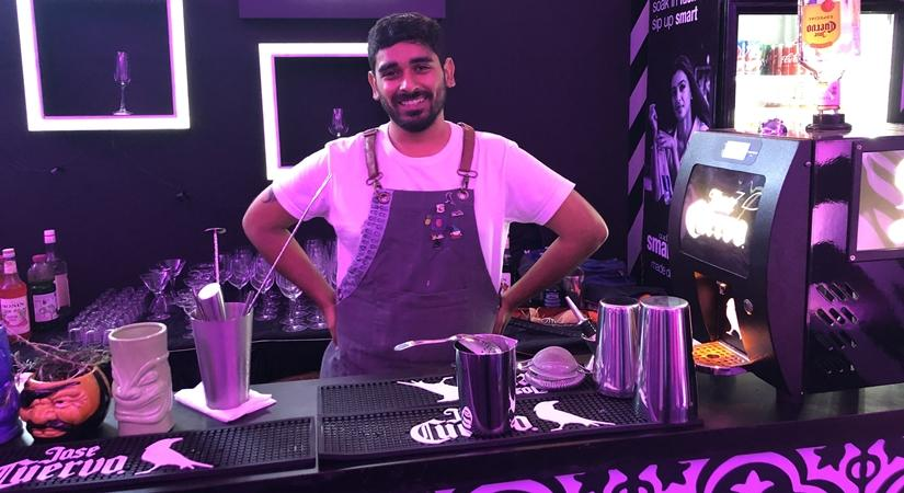 Dushyant Tanwar, Brand Manager and Mixologist for Monika Enterprises