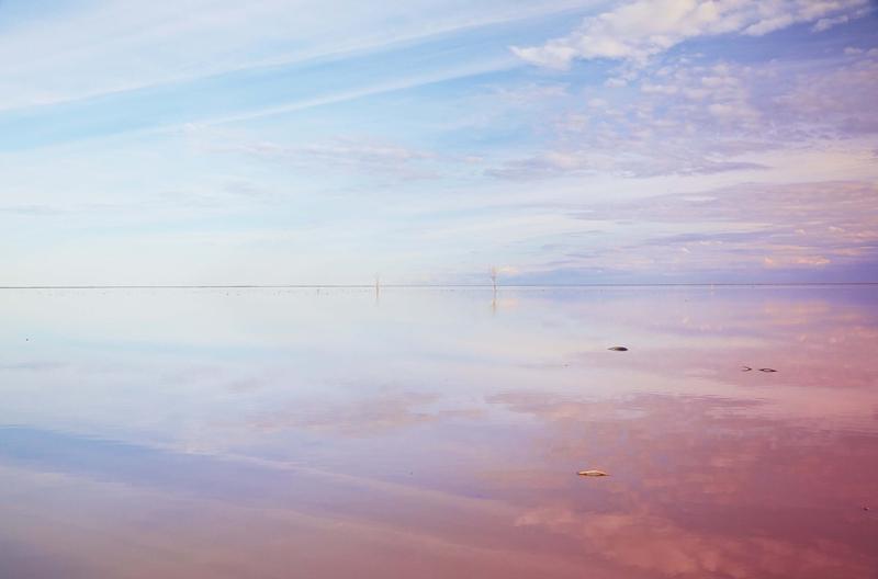 Pastel colours of Lake Menindee, Kinchega National Park.