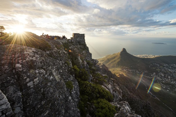 Abseiling from Table Mountain, Western Cape