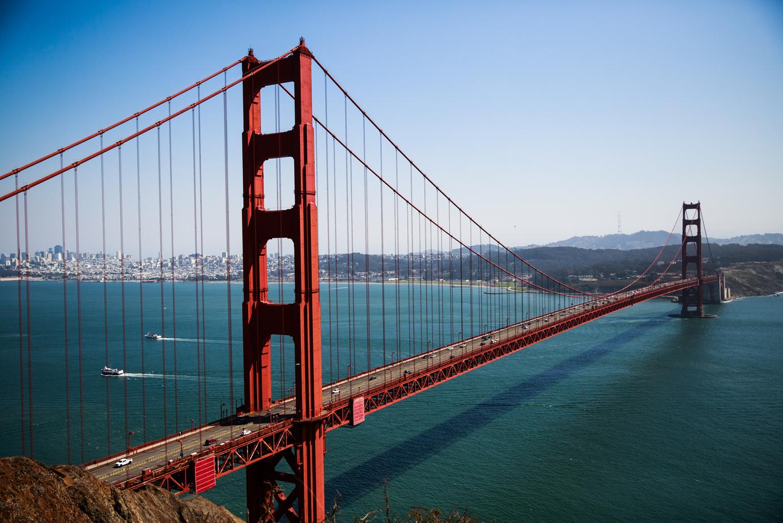 The Golden Gate Bridge in San Francisco, California, September 6, 2016