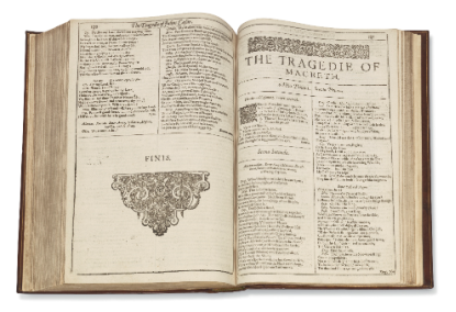 First Folio, Inside (Source-Christie's)