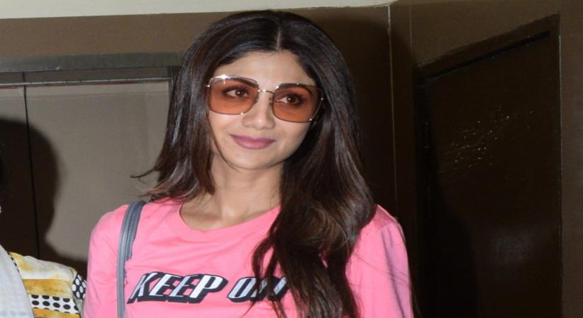 Mumbai: Actress Shilpa Shetty seen at a Mumbai cinema hall on Aug 23, 2019. (Photo: IANS)