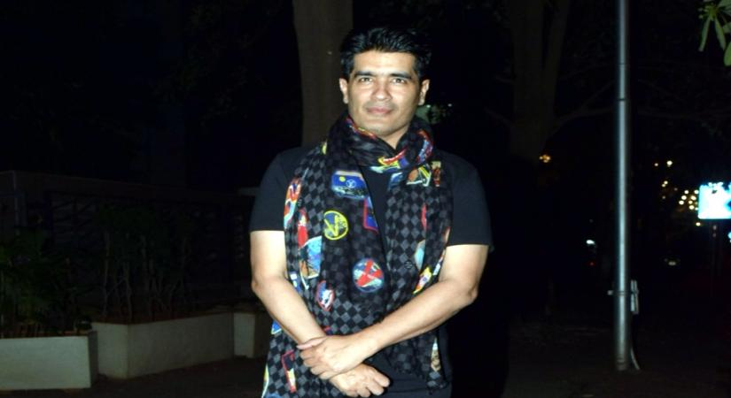 Fashion designer Manish Malhotra seen at Bandra in Mumbai
