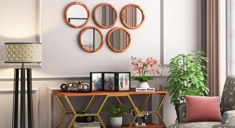 Lights & mirrors: A clutter-free home decor setup in budget