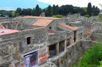 Ancient Roman city of Pompeii in southern Italy