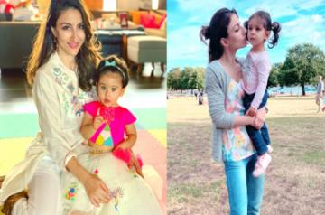 Actress Soha Ali Khan says watching her two-year-old daughter Inaaya Naumi Kemmu grow is scary as well as exciting, adding that she is at an age where she is absorbing everything and repeating things.