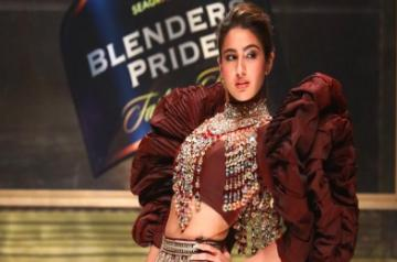 Showstopper Sara Ali Khan walking the ramp at Blenders Pride Fashion Tour 2019-20 in New Delhi
