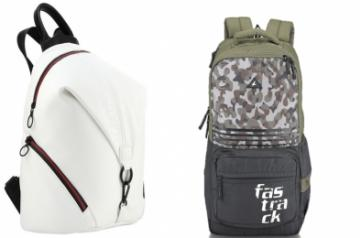 Fastrack Girls backpack (L) boys backpack (R)